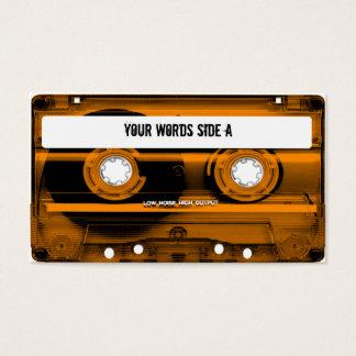 Orange Cassette Tape Personalized Business Card