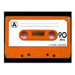 Orange Cassette Tape Postcard