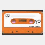 Orange Cassette Tape Stickers