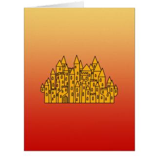 Orange Castle Card