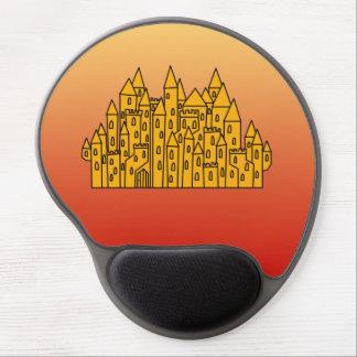 Orange Castle Gel Mousepads