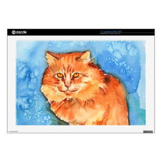 """Orange Cat 17"""" Laptop Decals"""