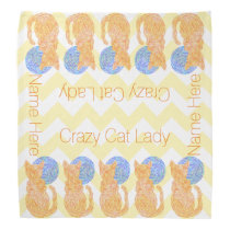 Orange Cat And The Moon Cat Lover Crazy Cat Lady Bandana