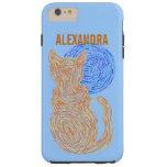 Orange Cat And The Moon Cat Lover Feline Kitten Tough iPhone 6 Plus Case