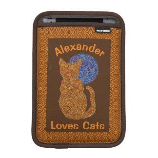 Orange Cat And The Moon Cat Lover Feline Kitten Sleeve For iPad Mini