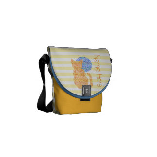 Orange Cat And The Moon Cat Lover Personalized Courier Bag