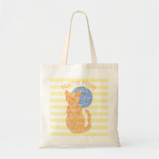 Orange Cat And The Moon Cat Lover Personalized Tote Bag