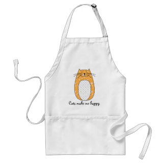Orange Cat Apron