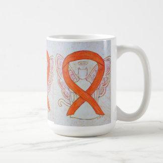 Orange Cat Awareness Ribbon Angel Art Mug