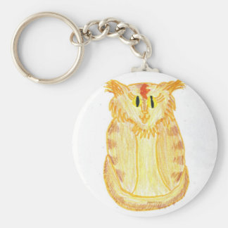 Orange Cat Basic Round Button Keychain