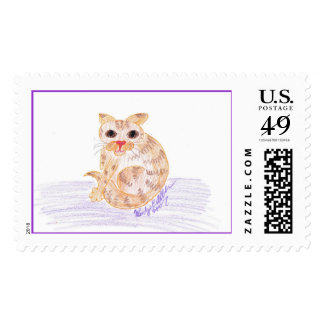 """Orange Cat by """"Wendy C. Allen"""" Stamp"""