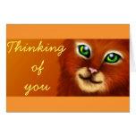 Orange Cat Card