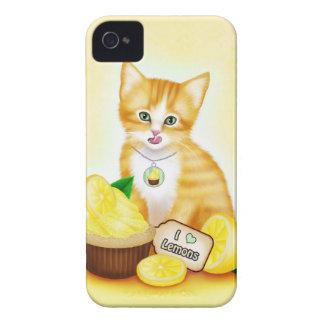 Orange Cat Cupcake Lemon iPhone 4 Case