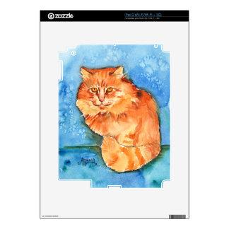 Orange Cat Decal For iPad 2