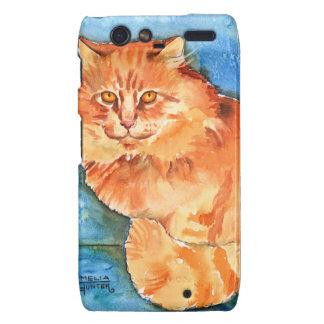 Orange Cat Droid RAZR Cover