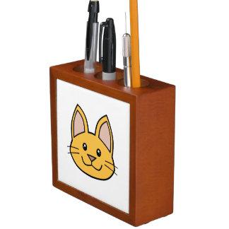 Orange Cat FACE0000001 Desk Organizer 01 Pencil/Pen Holder
