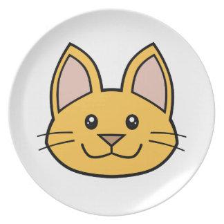 Orange Cat FACE0000001 Melamine Plate 01