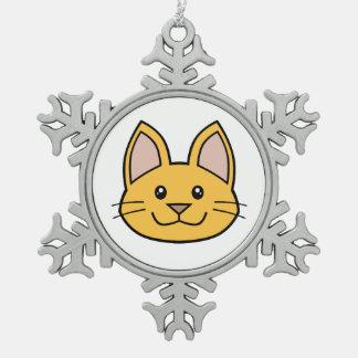 Orange Cat FACE0000001 Ornament 02