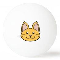 Orange Cat FACE0000001 Ping Pong Ball 01 Ping-Pong Ball