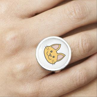 Orange Cat FACE0000001 Ring 01 Rings