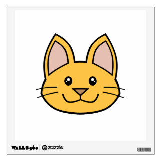 Orange Cat FACE0000001 Wall Decal 01