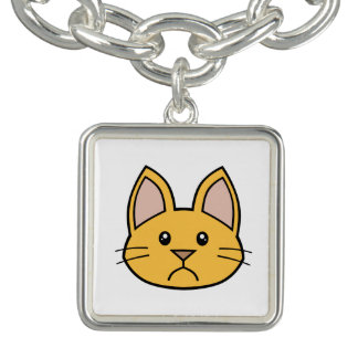 Orange Cat FACE0000002 Charm Bracelet 01