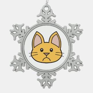 Orange Cat FACE0000002 Ornament 02