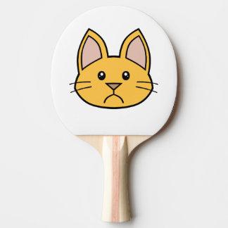 Orange Cat FACE0000002 Ping Pong Paddle 01 Ping-Pong Paddle