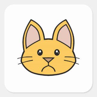 Orange Cat FACE0000002 Stickers 01