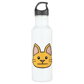 Orange Cat FACE0000003 01 24oz Water Bottle