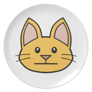 Orange Cat FACE0000003 Melamine Plate 01 Party Plates