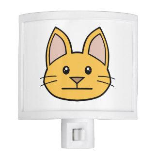 Orange Cat FACE0000003 Night Light 01 Nite Lites