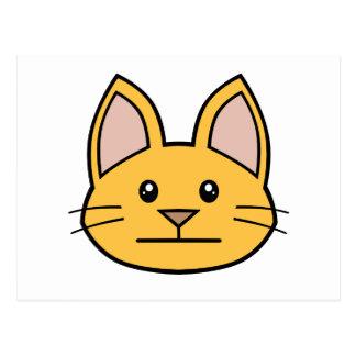 Orange Cat FACE0000003 Postcard 01 Postcards
