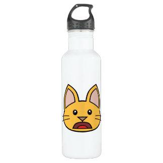 Orange Cat FACE0000004 01 24oz Water Bottle