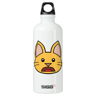Orange Cat FACE0000004 01 Water Bottle