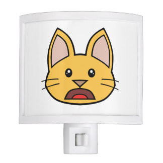 Orange Cat FACE0000004 Night Light 01