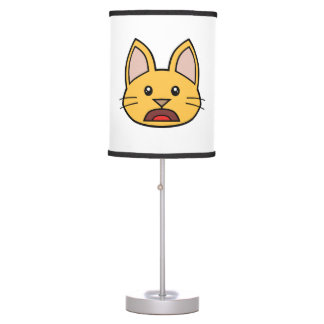 Orange Cat FACE0000004 Table Lamp 01