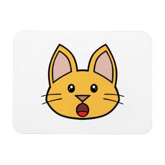 Orange Cat FACE0000005 Flexible Magnet 01