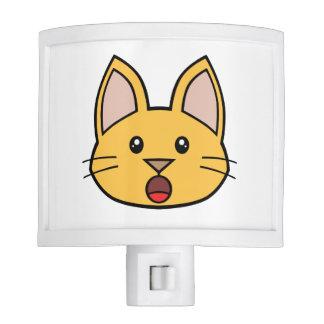 Orange Cat FACE0000005 Night Light 01 Nite Lite