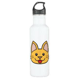 Orange Cat FACE0000006 01 24oz Water Bottle