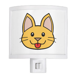 Orange Cat FACE0000006 Night Light 01 Night Lites