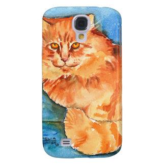 Orange Cat Galaxy S4 Case