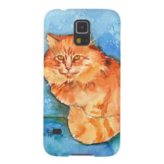 Orange Cat Galaxy S5 Covers