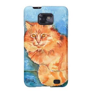Orange Cat Galaxy SII Cases