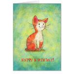 Orange Cat Greeting Card(customizable)