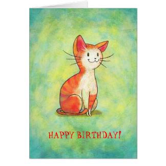 Orange Cat Greeting Card(customizable) Card