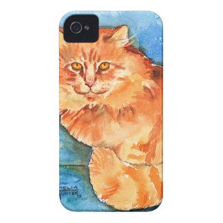 Orange Cat iPhone 4 Cover