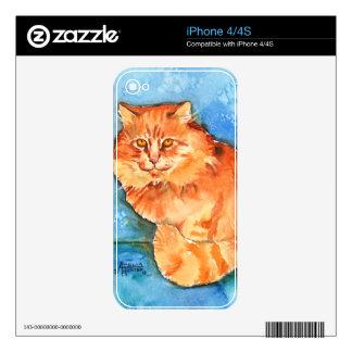 Orange Cat iPhone 4 Decals