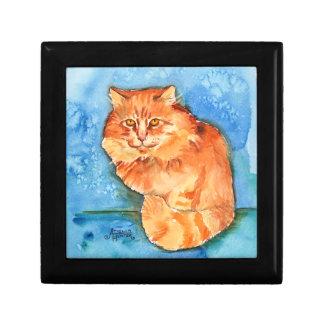 Orange Cat Keepsake Boxes