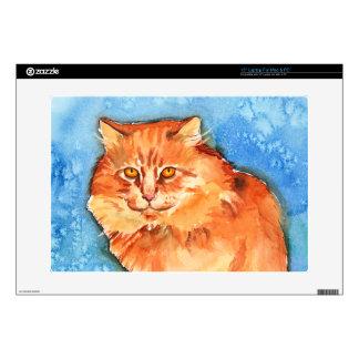 Orange Cat Laptop Decals